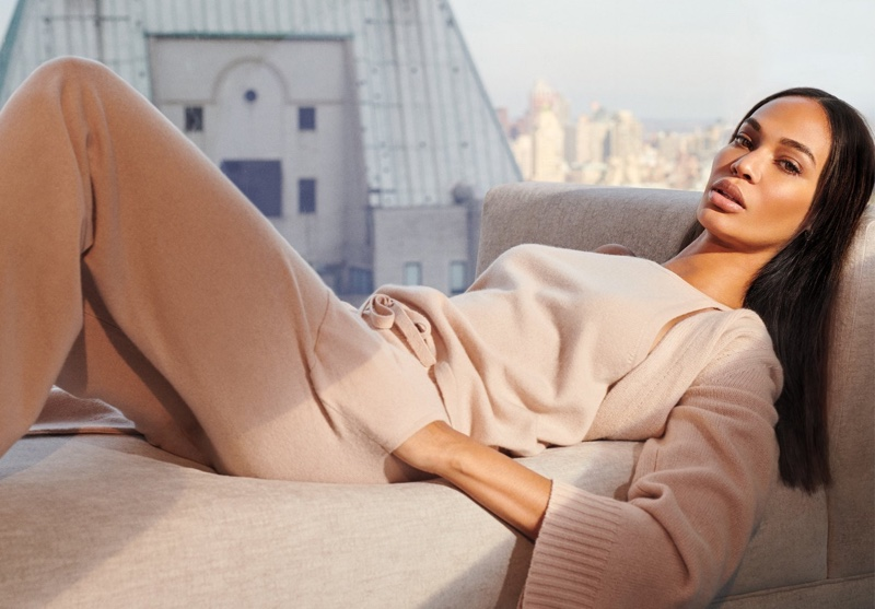 Joan Smalls looks pretty in pink for NakedCashmere spring-summer 2019 campaign