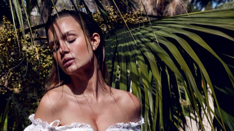 Josephine Skriver Models Tropical Styles for Marie Claire Italy