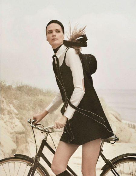 Julia Stegner Models Monochrome Styles for Vogue Germany