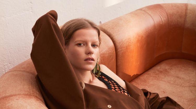 Kadri Vahersalu Relaxes in Neutral Looks for ELLE Sweden
