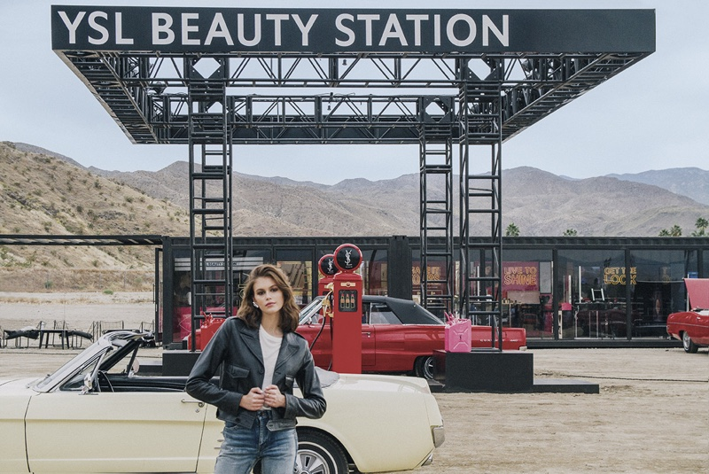YSL unveils Beauty Station campaign with Kaia Gerber