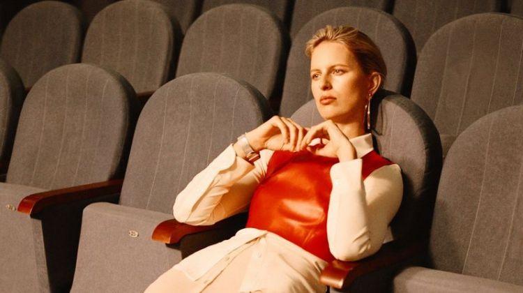Karolina Kurkova Wears Relaxed Styles in Harper's Bazaar Russia