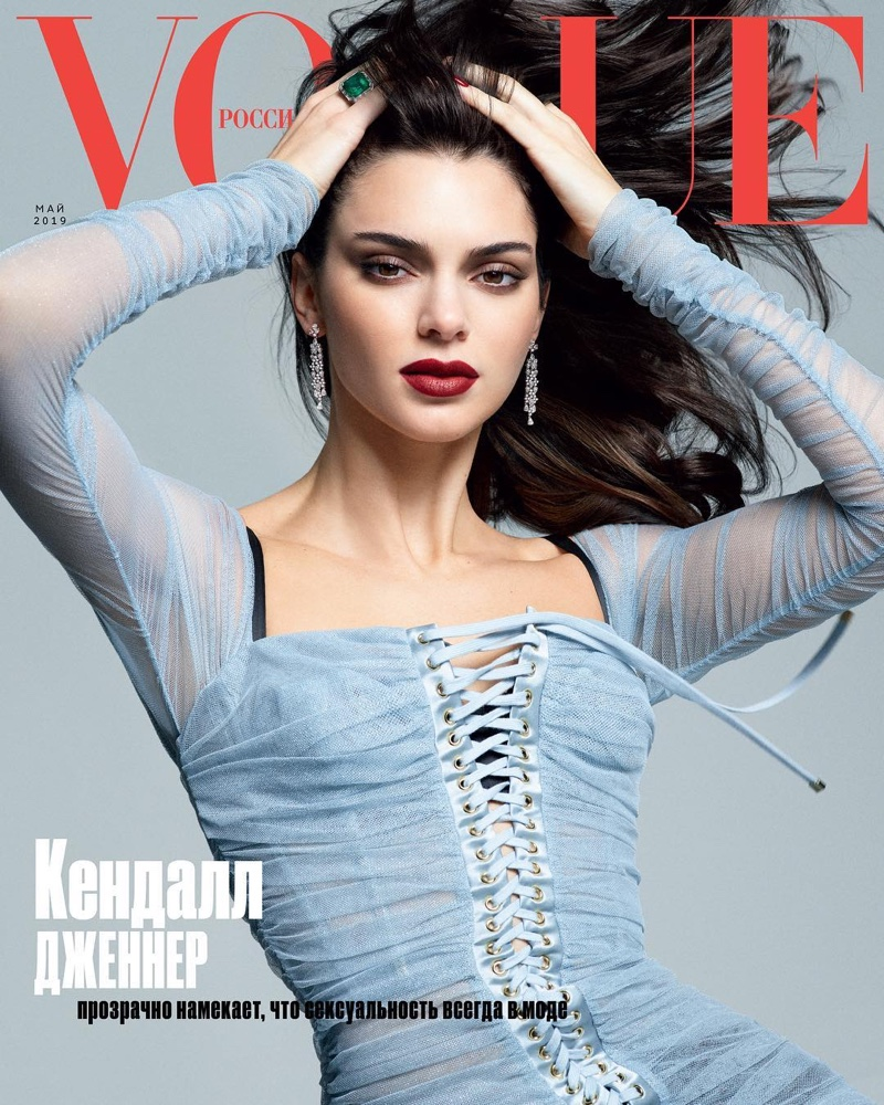 Kendall Jenner Vogue Russia 2019 Cover Fashion Shoot