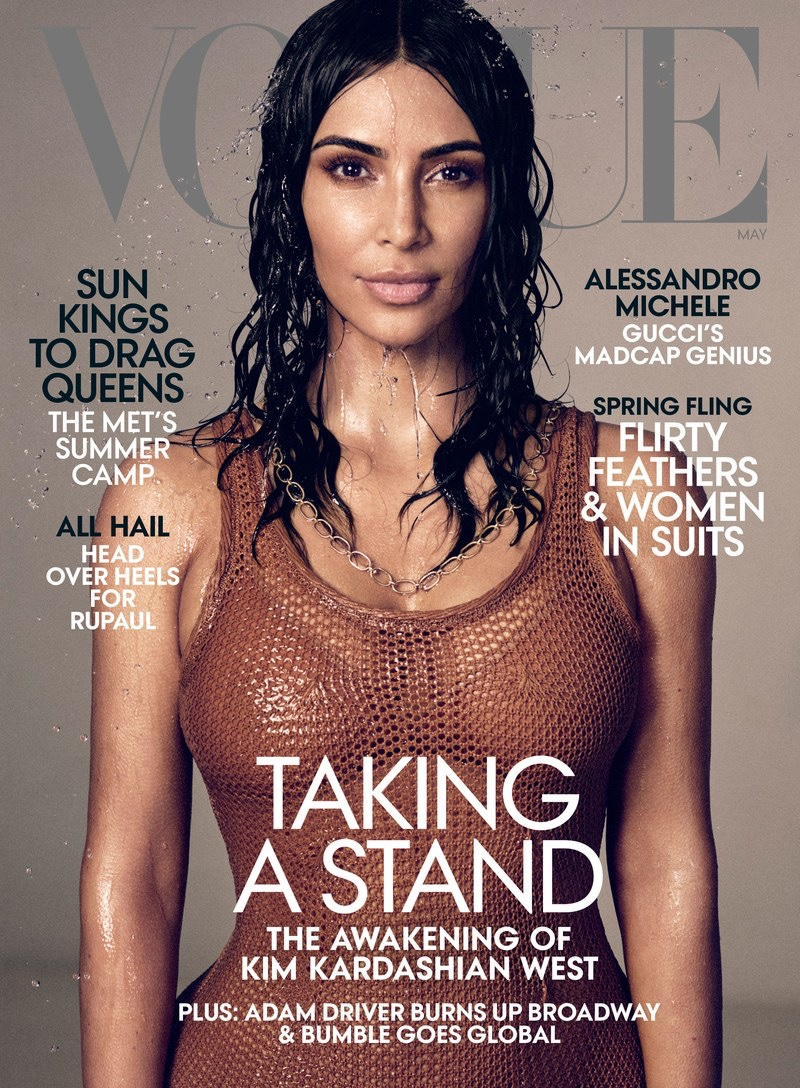 Kim Kardashian on Vogue US May 2019 Cover