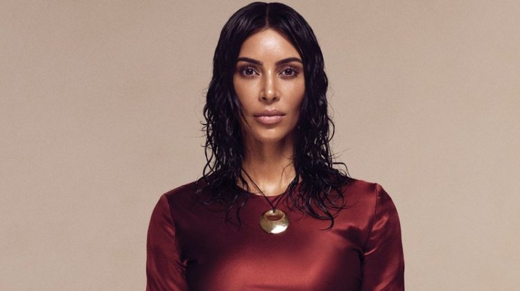 Kim Kardashian poses in Alejandra Alonso Rojas dress with Elsa Peretti for Tiffany & Co. necklace