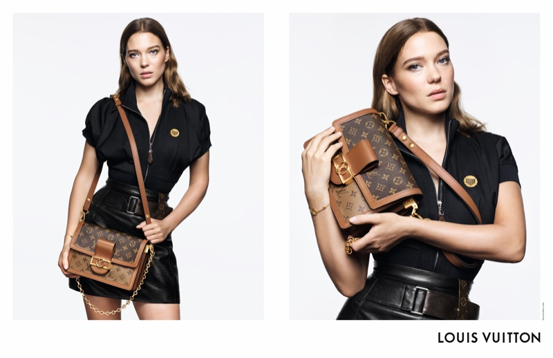 Lea Seydoux appears in Louis Vuitton handbag campaign with the Dauphine silhouette