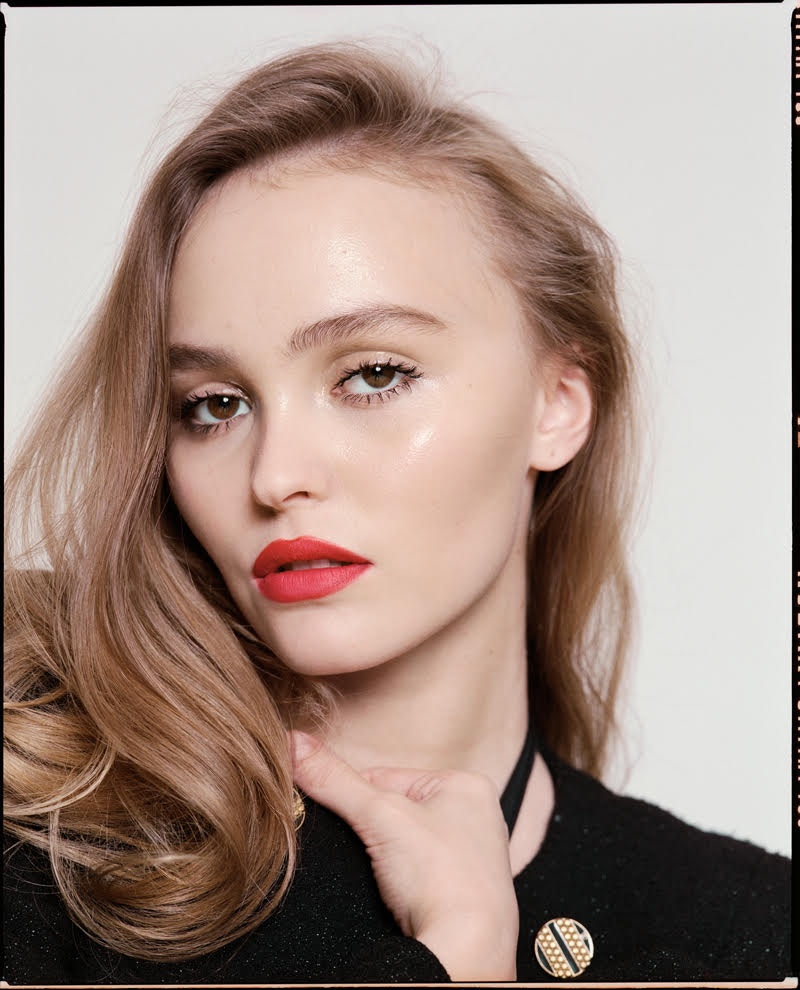 Photographed by Pelle Lannefors, Lily-Rose Depp poses for Glamour Paris