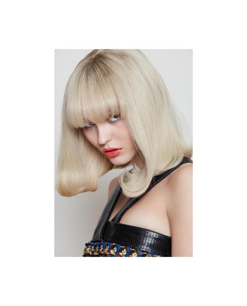 Lily-Rose Depp looks striking as a platinum blonde