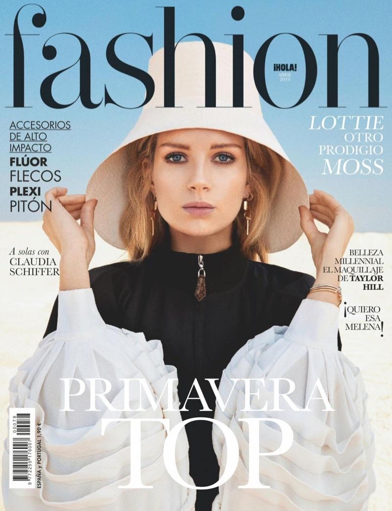 Lottie Moss Wears Louis Vuitton Looks in Hola! Fashion