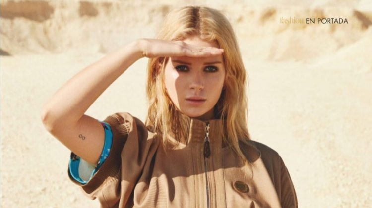 Lottie Moss Wears Louis Vuitton Looks in Hola! Fashion