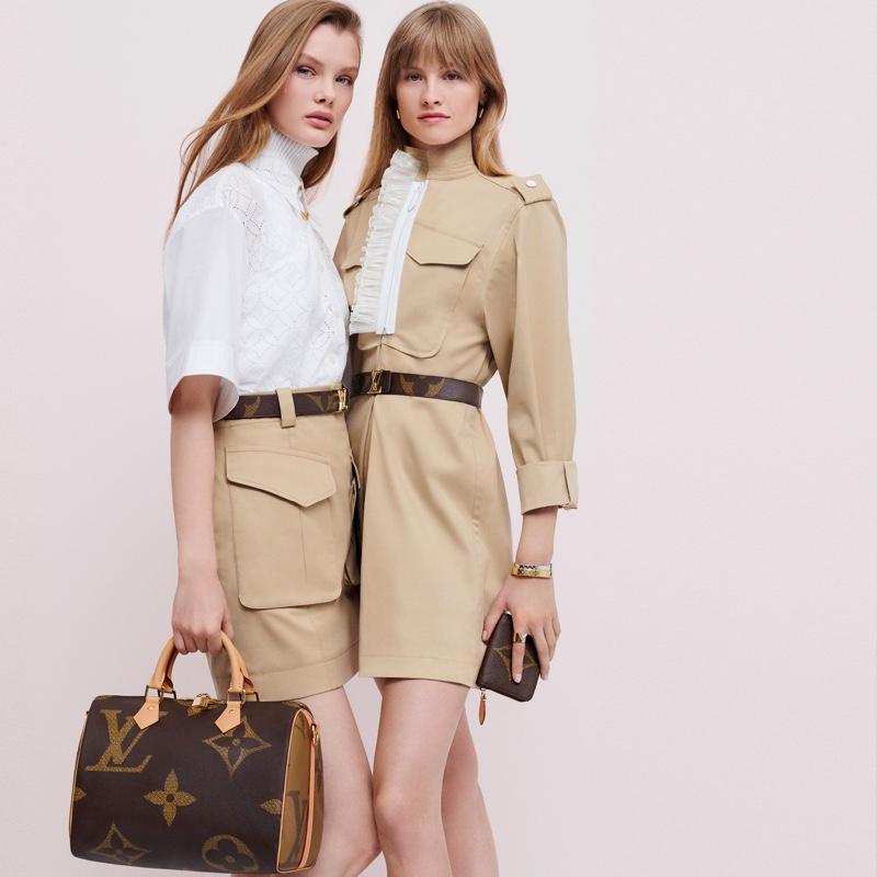 Kris Grikaite and Klara Kristin front Louis Vuitton Monogram Giant campaign