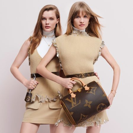 Kris Grikaite and Klara Kristin are the faces of the Louis Vuitton Monogram Giant campaign