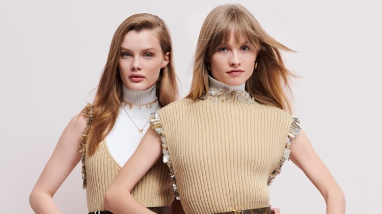 Kris Grikaite and Klara Kristin are the faces of the Louis Vuitton Monogram Giant campaign
