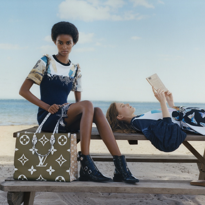 Models Blésnya Minher and Sarah Dahl appear in Louis Vuitton summer 2019 campaign
