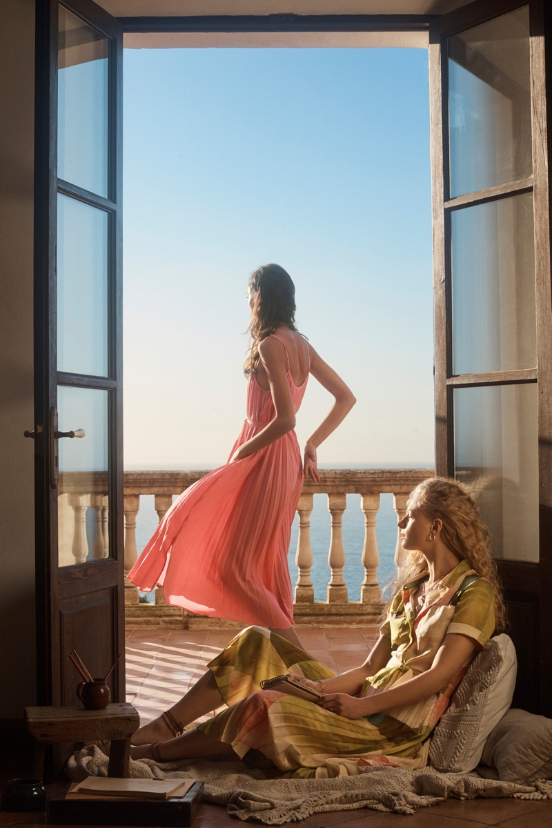 Mango features bold colors in its A House With A View editorial