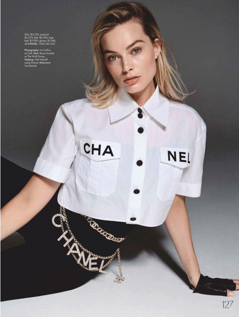 Margot Robbie rocks the Chanel logo in this shot