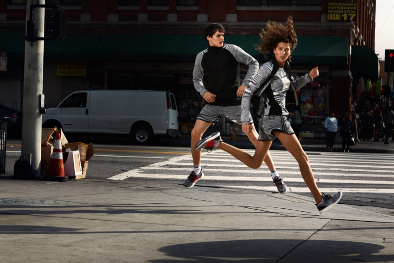Models take a leap in this Missoni x adidas collaboration