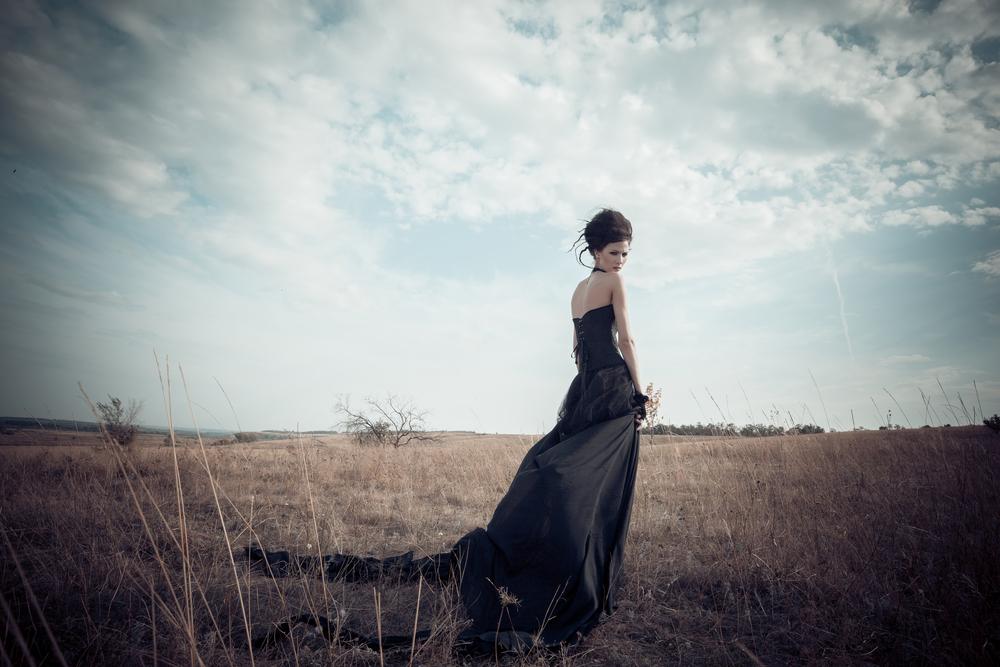 Model Black Gown