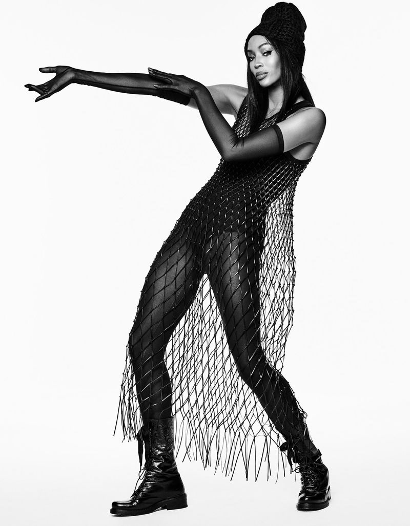 Naomi Campbell Stuns In Sleek Looks for Vogue Japan
