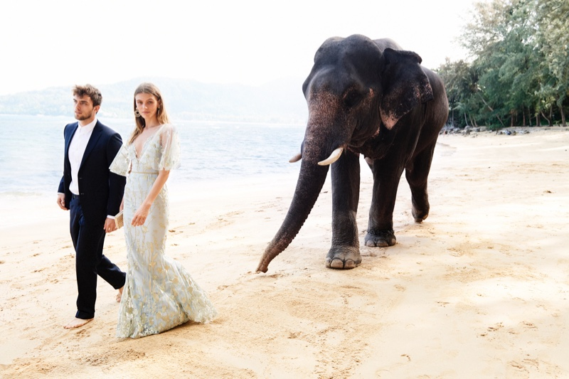 Madison Headrick poses in Thailand for Neiman Marcus Art of Travel campaign
