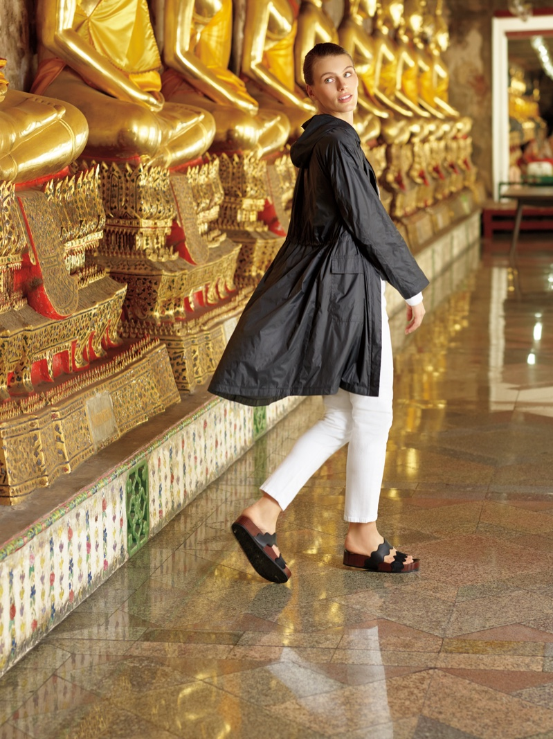 Madison Headrick wears Eileen Fisher in Neiman Marcus Art of Travel campaign