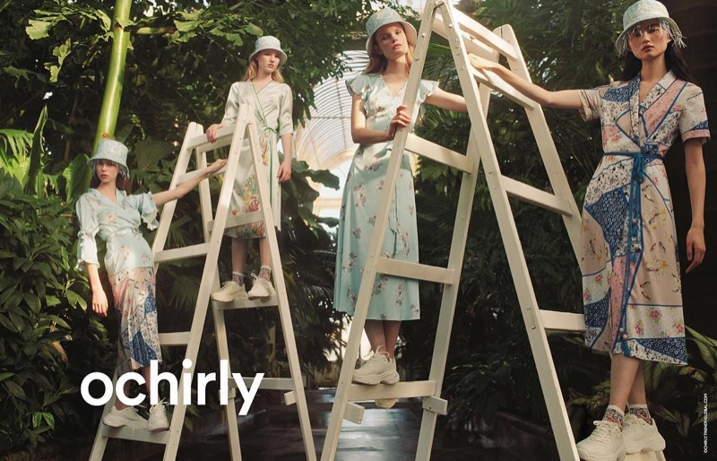 Lorena Maraschi, Polina Oganicheva, Jess PW and He Cong front Ochirly summer 2019 campaign
