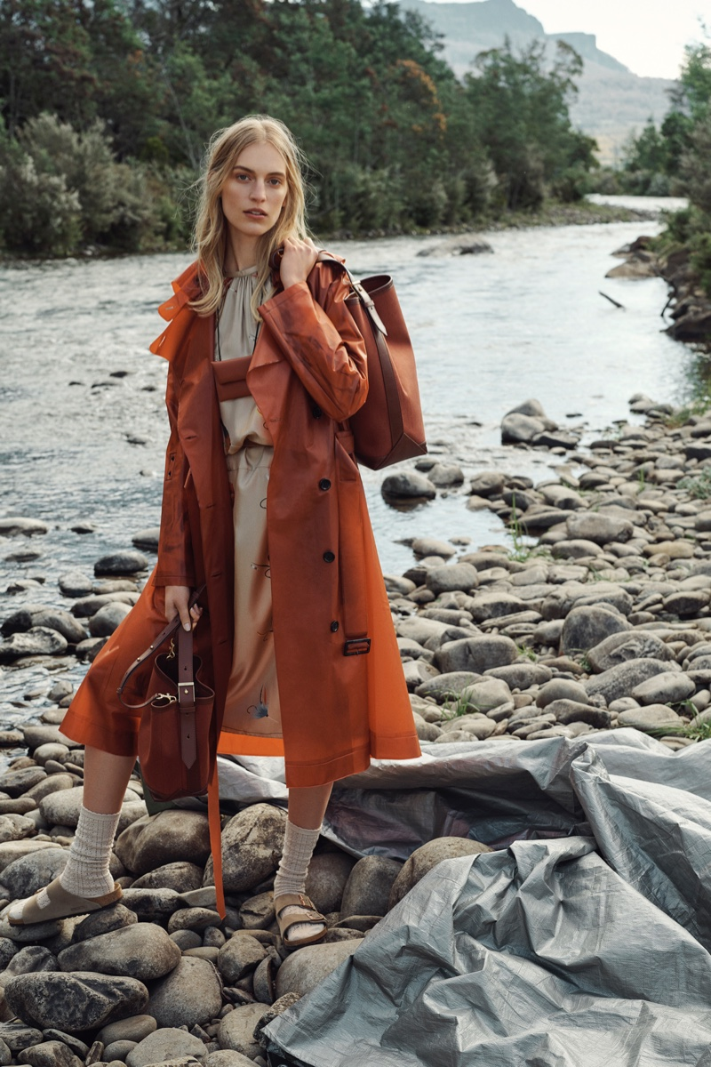 Vanessa Axente layers up for Oroton winter 2019 campaign