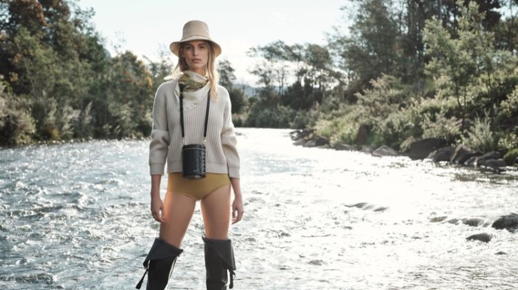 Vanessa Axente Goes Fishing for Oroton Winter 2019 Campaign