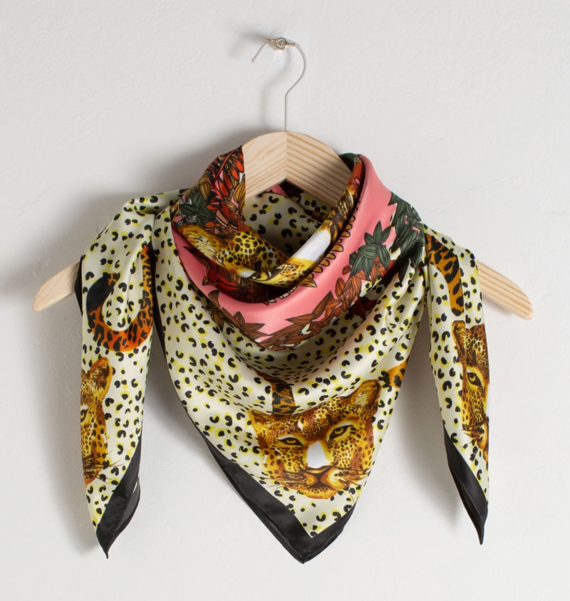 & Other Stories Leopard Print Scarf $49