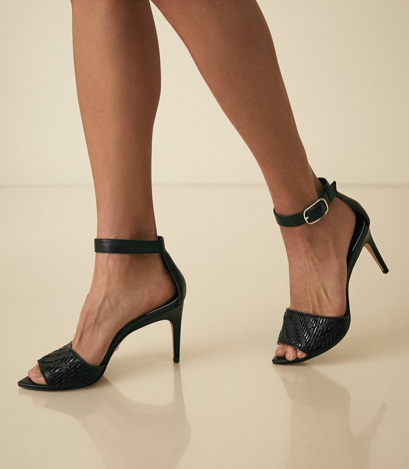 REISS Astor Weave Detailed Strappy Sandals $275
