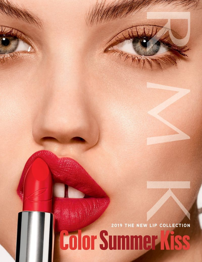 RMK enlists Lindsey Wixson for RMK Color Summer Kiss 2019 campaign