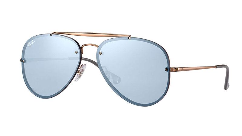Ray-Ban Blaze Aviator Sunglasses in Bronze-Copper with Violet Mirror Lenses $198