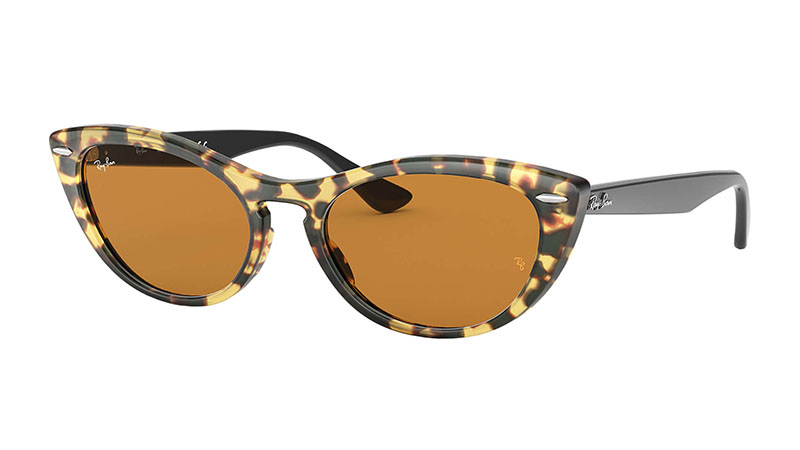 Ray-Ban Nina Sunglasses in Yellow Havana with Yellow Washed Lenses $188