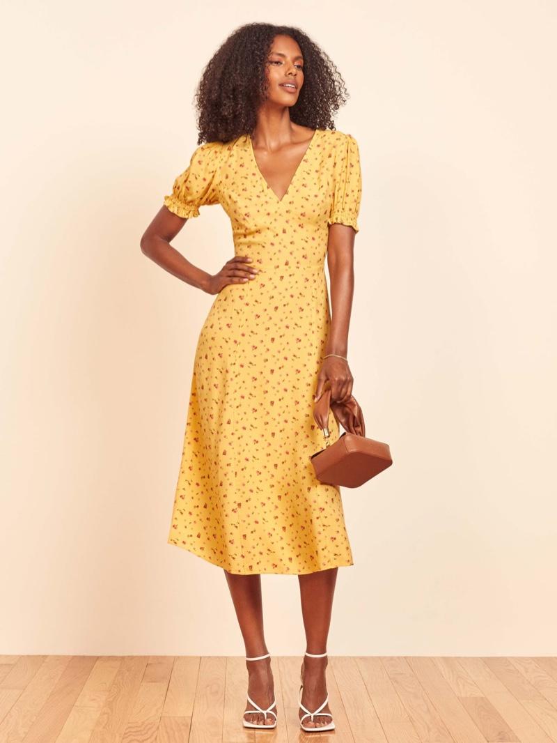 Reformation Bee Dress in Gwen $218