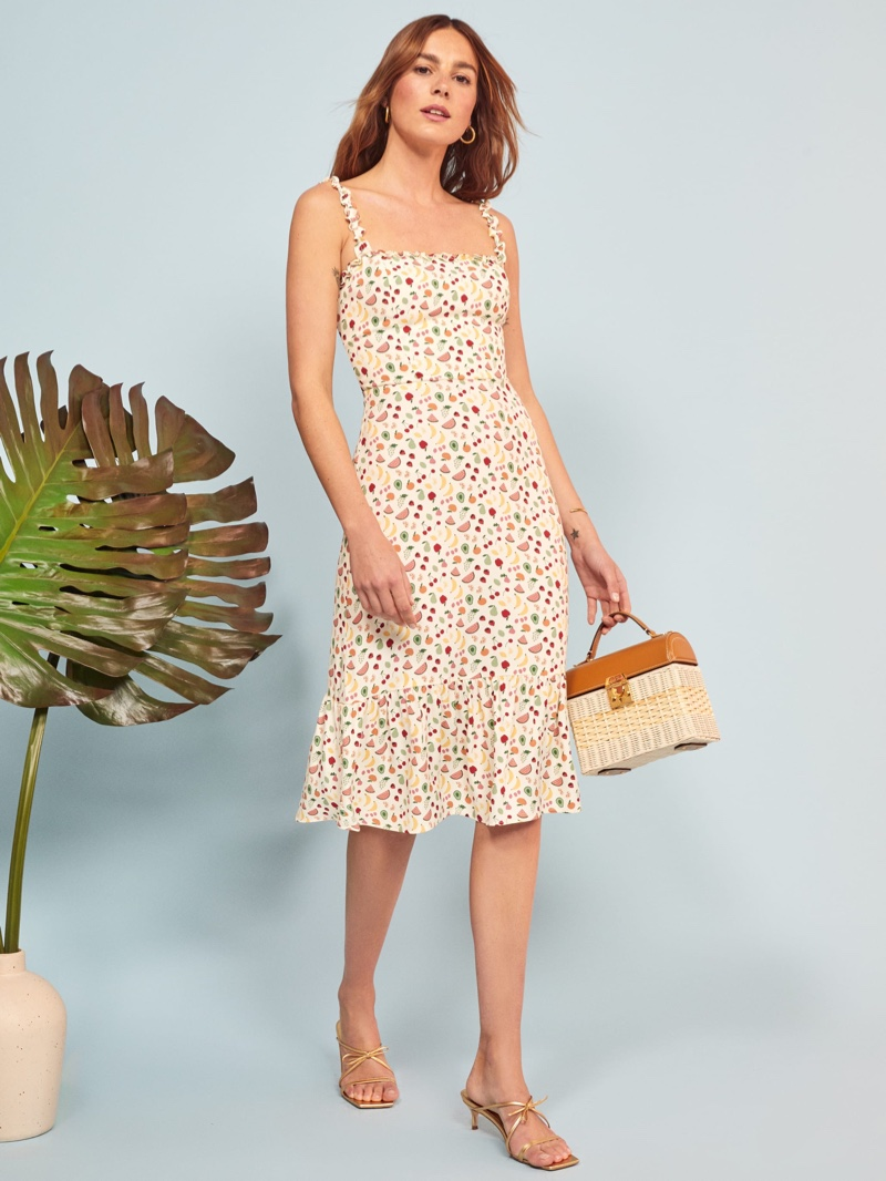 Reformation Granada Dress in Supermarket Sweep $218