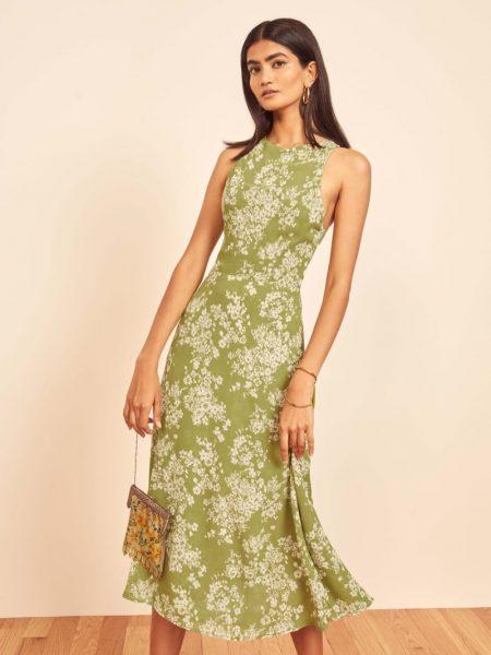Reformation Harleen Dress in Caprice $248
