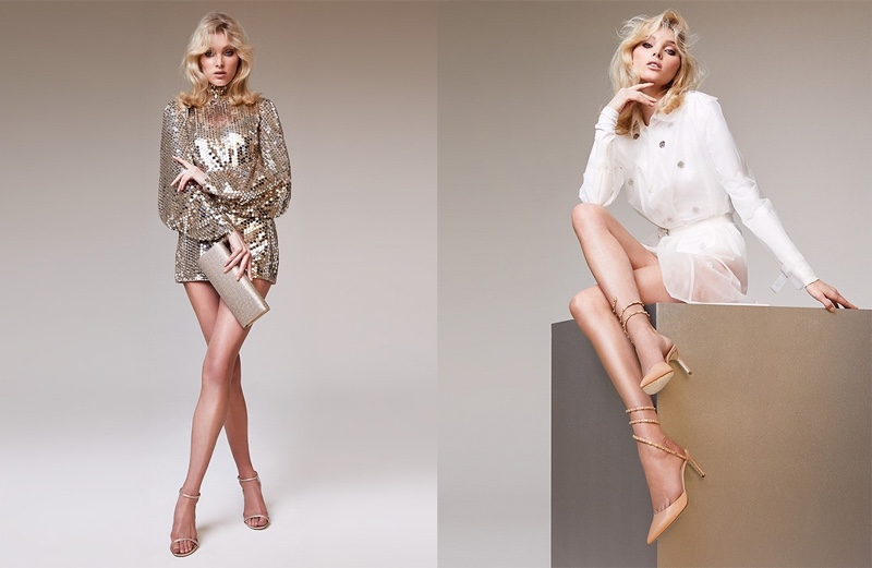 Elsa Hosk shows off her famous legs in Rene Caovilla spring-summer 2019 campaign