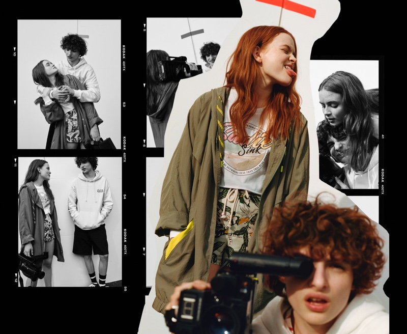 Stranger Things stars Sadie Sink and Finn Wolfhard pose for Pull & Bear campaign