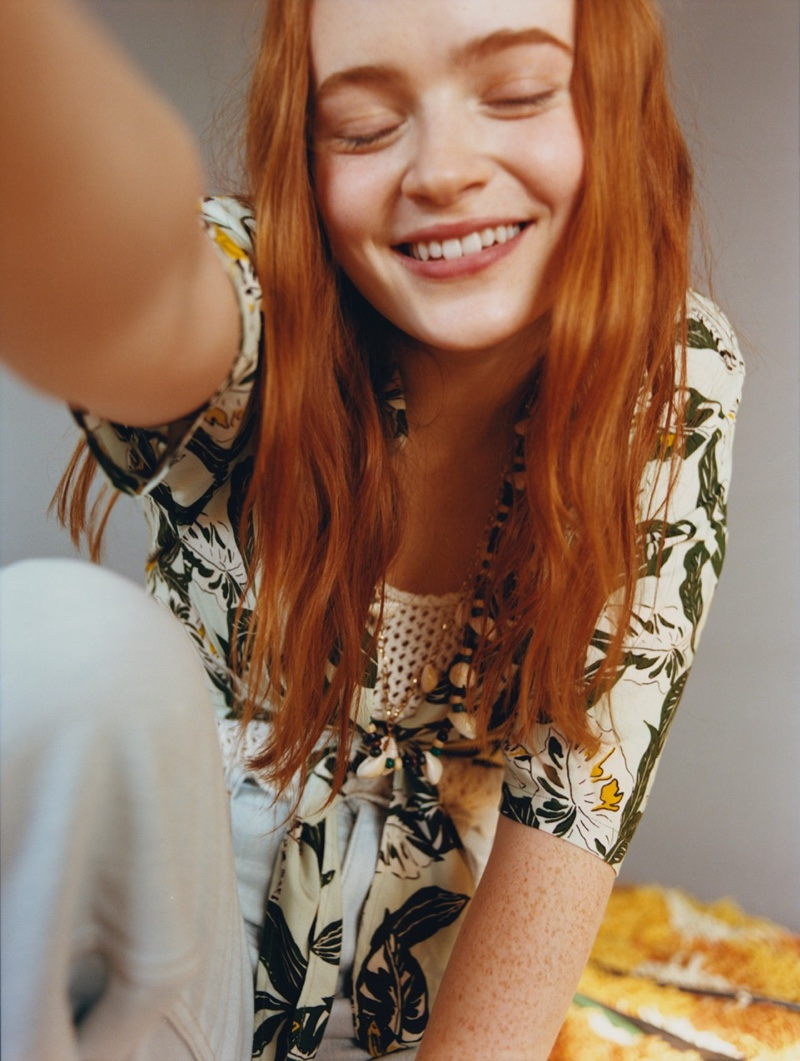 Actress Sadie Sink is all smiles in Pull & Bear collaboration campaign