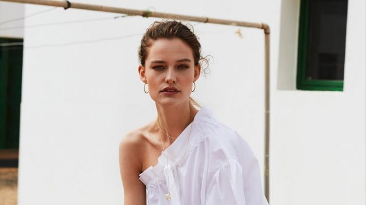 Sara Van der Hoek Poses in Summer Whites for Marie Claire Netherlands