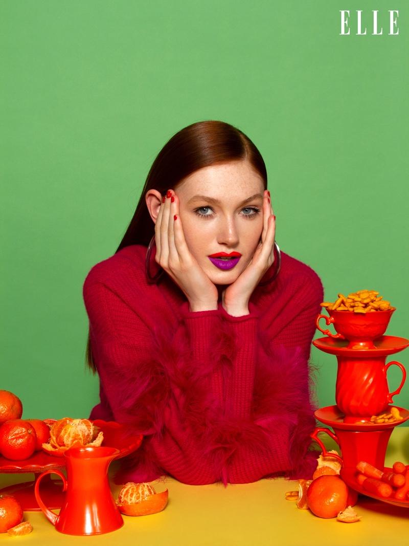 Sarah Gullixson Embraces Colorful Beauty for ELLE Croatia