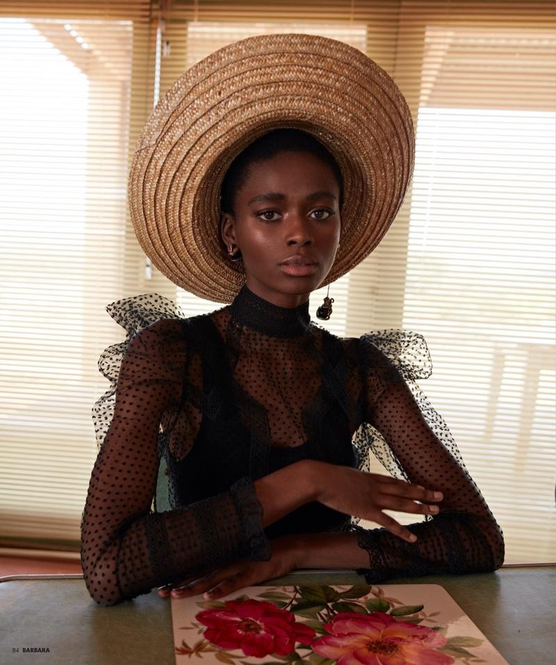 Sisipho Ntsabo Models Glamorous Styles for Barbara Magazine
