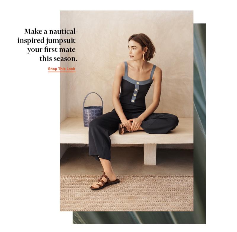 Staud Scotch Jumpsuit $205, Bissett Bag $375 and Trademark Capra Toe Ring Sandals $198
