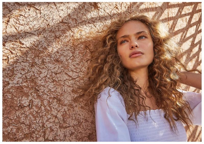 Model Anna Mila Guyenz appears in Stradivarius spring-summer 2019 campaign
