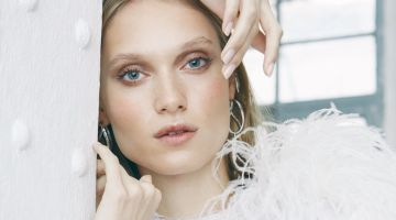 Tanya Reutt Poses in Delicate Looks for ELLE Serbia