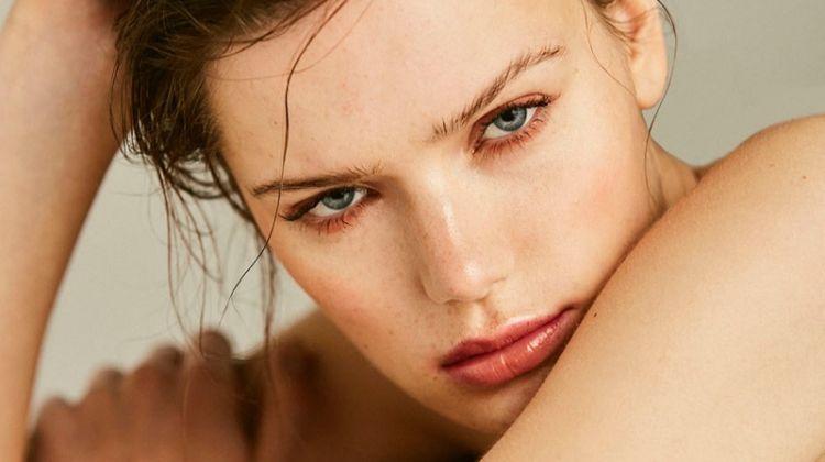 Tessa Jones Models Copper Beauty for Harper's Bazaar Czech