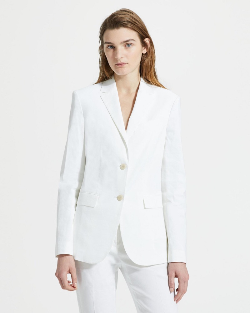 Theory Good Linen Classic Blazer in White $495