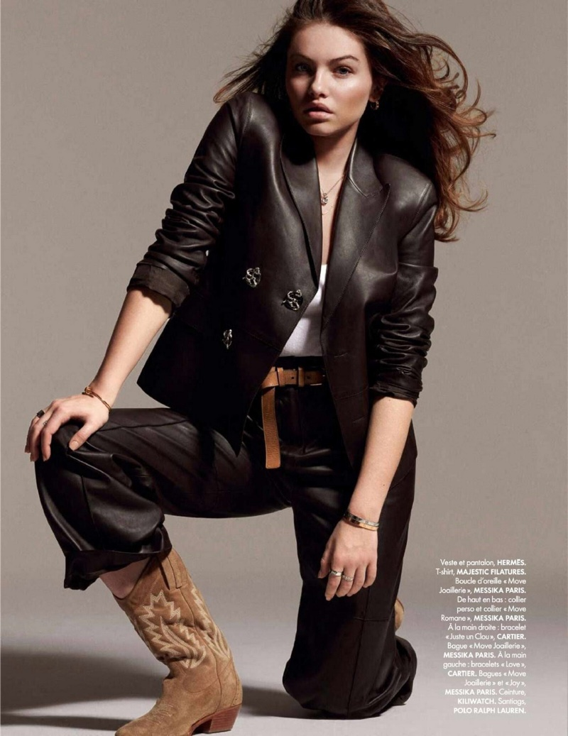 Thylane Blondeau Wears Effortlessly Chic Looks for ELLE France