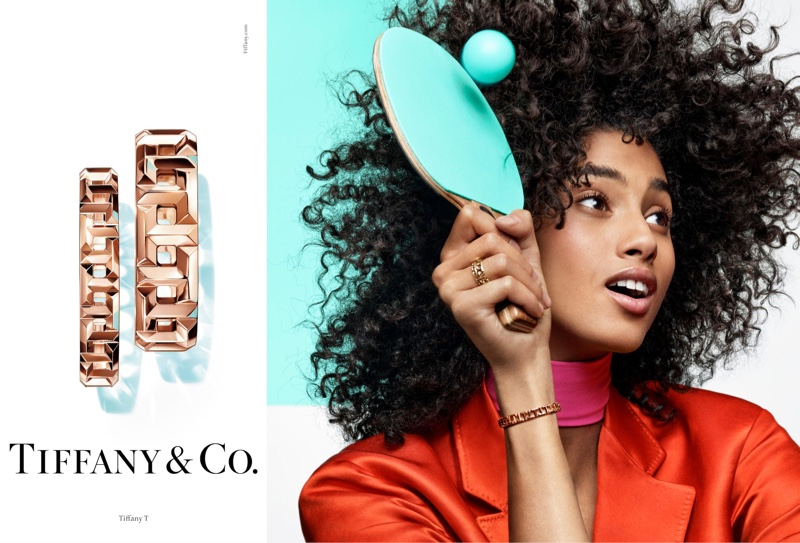 Imaan Hammam fronts Tiffany & Co. spring-summer 2019 campaign