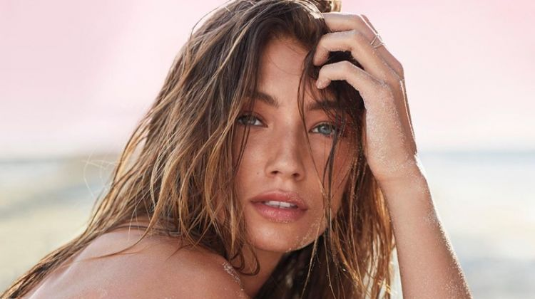 Lorena Rae stars in Victoria's Secret Bombshell Paradise fragrance campaign